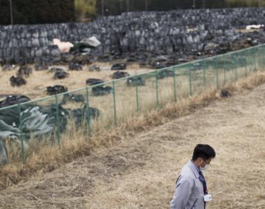 年輕官員鳩山先生離開故鄉福島時還是初中生,希望回到社區幫忙重建。(圖/AP)